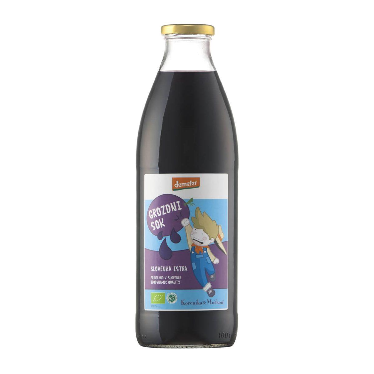 Grozdni sok Refošk. Grozdni sok črno grozdje.