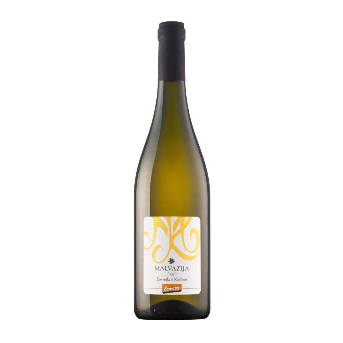 Sveža Malvazija. Vino Malvazija, belo vino, letnik 2018. Sveže vino.